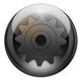 Botón de las configuraciones del grafito ilustración del vector