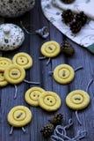 Botón de las galletas fotos de archivo