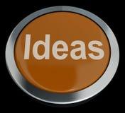 Botón de las ideas que muestra conceptos o creatividad de la mejora Fotografía de archivo libre de regalías