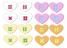 Botón de los corazones Imagen de archivo