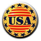 Botón de los E.E.U.U. stock de ilustración