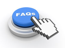 Botón de los FAQ ilustración del vector