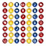 Botón de los iconos del Internet y de la comunicación Fotografía de archivo libre de regalías