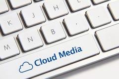 Botón de los medios de la nube Imagen de archivo libre de regalías