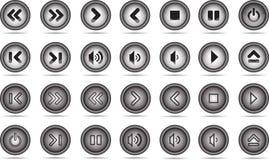 Botón de los multimedia Imagenes de archivo