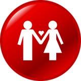 Botón de los pares del amor stock de ilustración
