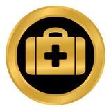Botón de los primeros auxilios Imagen de archivo libre de regalías