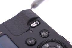 Botón de los Wi fi en una cámara Fotografía de archivo
