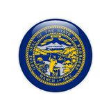 Botón de Nebraska de la bandera ilustración del vector