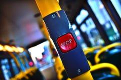 Botón de paro de autobús de Londres 1 Imagen de archivo
