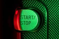 Botón de paro de comienzo Imagenes de archivo