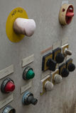Botón de paro de emergencia Imagen de archivo