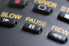 Botón de pausa Imagen de archivo