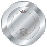 Botón de plata Fotografía de archivo libre de regalías