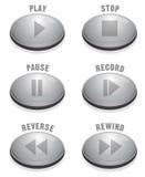 Botón de plata liso Fotos de archivo