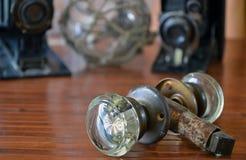 Botón de puerta de cristal del vintage Fotografía de archivo libre de regalías