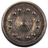 Botón de puerta redondo viejo imagen de archivo