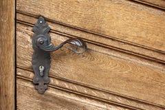 Botón de puerta viejo Fotografía de archivo