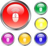 Botón de ratón sin hilos Fotos de archivo libres de regalías