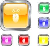 Botón de ratón sin hilos Fotografía de archivo libre de regalías