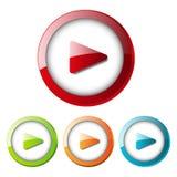 Botón de reproducción Fotografía de archivo