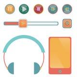 Botón de reproducción de la música libre illustration