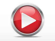 Botón de reproducción rojo