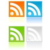 Botón de RSS ilustración del vector