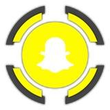 Botón de Snapchat stock de ilustración