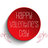 Botón de Valentine Day te amo Foto de archivo libre de regalías