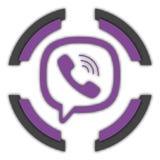 Botón de Viber ilustración del vector