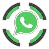 Botón de Whatsapp stock de ilustración