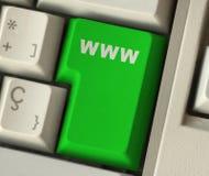 Botón de WWW Foto de archivo