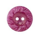 Botón decorativo rosado en el fondo blanco imágenes de archivo libres de regalías