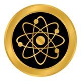 Botón del átomo en blanco Imagen de archivo