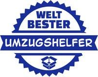 Botón del alemán del hombre del retiro del ` s del mundo el mejor libre illustration