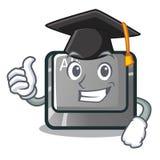 Botón del alt de la graduación aislado con la mascota libre illustration