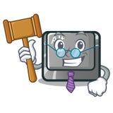 Botón del alt de la historieta del juez en la tabla libre illustration