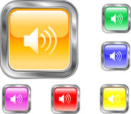 Botón del altavoz Imagenes de archivo