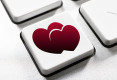 Botón del amor Fotografía de archivo libre de regalías