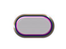 Botón del arco iris Imagen de archivo libre de regalías