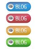 Botón del blog Imagen de archivo