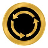 Botón del círculo de las flechas Fotografía de archivo