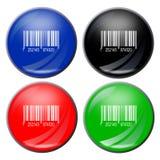 Botón del código de barras fotografía de archivo libre de regalías