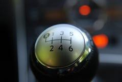 Botón del cambio de engranaje Imagen de archivo libre de regalías