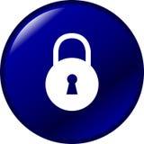 Botón del candado Fotografía de archivo