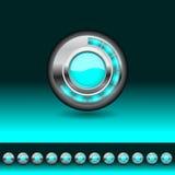 Botón del cargamento ilustración del vector