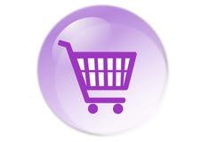 Botón del carro de compras Imagenes de archivo