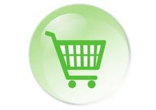 Botón del carro de compras Fotos de archivo libres de regalías