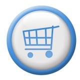 Botón del carro de compras Foto de archivo